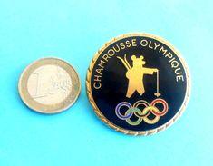 WINTER OLYMPIC GAMES 1968. GRENOBLE ( Chamrousse Olympique ) Large Enamel Pin Badge A. BERTHRAND Jeux Olympiques D'hiver - Habillement, Souvenirs & Autres
