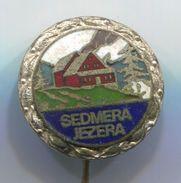 Alpinism, Mountaineering, Climbing - SEDMERA JEZERA / TRIGLAV SLOVENIA, Vintage Pin, Badge, Abzeichen, Enamel - Alpinism, Mountaineering