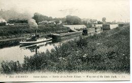 N°56953 -cpa Saint Aubin -remorqueur- Sortie De La Petite écluse- - Remorqueurs