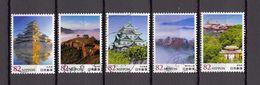 Japan 2014 - Japanese Castles 3, Used Stamps, Michelnr. 7109-13 - Gebruikt