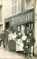 N°56959 -carte Photo Restaurant à Joigny 1914 - Joigny
