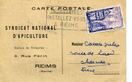 N°56962 -carte Syndicat National D'apiculture à Reims - Agriculture