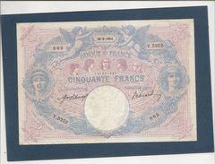 Billet De 50 Francs Bleu Et Rose Du 26 05 1914 TTB - 50 F 1889-1927 ''Bleu Et Rose''