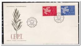 Griekenland 1961, Europe - FDC
