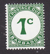 Barbados, Scott #J7, Mint Hinged, Postage Due, Issued 1965 - Barbados (...-1966)