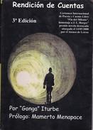 RENDICION DE CUENTAS. GONGA ITURBE. 2009, 126 PAG. SIGNEE AUTOGRAPHED  - BLEUP - Classiques