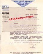 86- POITIERS- FACTURE MECANOGRAPHIE JAPY FRERES- 187 GRAND ' RUE - 1948 - Imprimerie & Papeterie