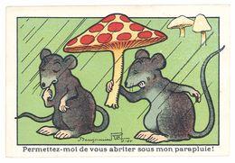 Chromo Blédine Jacquemaire, Souris, Champignon, Benjamin Rabier - Trade Cards