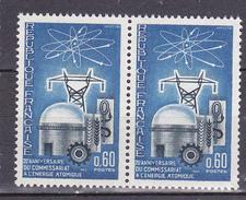 N° 1462 20ème Anniversaire Du Commissariat à L'Energie Atomique: Une Paire 2 Timbres Neuf Impeccable - Nuevos