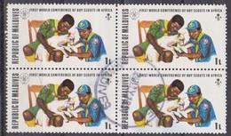 Maldive, 1973 - 1l  Scouts Treating Injured Lamb, Quartina - Nr.427 Usato° - Maldive (1965-...)