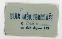 RARE Carte Adhérent Au Club Méditerranée 1953  Et Timbres De 1953 à 1962  CLUB MED - Other