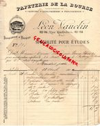 75- PARIS- FACTURE LEON VAUCLIN-IMPRIMERIE VAPEUR PAPETERIE DE LA BOURSE-GRAVURE LITHOGRAPHIE-82 RUE RICHELIEU-1902 - Imprimerie & Papeterie