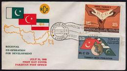 A5335 PAKISTAN 1965, SG 224-5 1st Anniv Regional Development Co-operation, FDC - Pakistan
