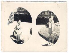 Photo Amateur Ancienne, Enfant & Voiture à Pédale, Ballon, Nimes - Photos