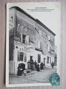 GARD  30  GALLARGUES  -  BOUCHERIE-CHARCUTERIE C. TURQUAY -   CARTE GLACEE   ANIME   PT. PLI HAUT G. - Gallargues-le-Montueux