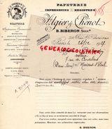 75- PARIS- FACTURE PAPETERIE IMPRIMERIE- ALGIER CHENOT-B. BIBERON-334 RUE SAINT HONORE-1927  GRAVURE FRANCOIS 1ER - Imprimerie & Papeterie