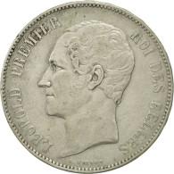 Belgique, Leopold I, 5 Francs, 5 Frank, 1851, TTB, Argent, KM:17 - 11. 5 Francos