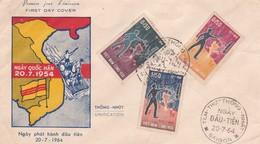1964 VIET NAM VIETNAM CONG HOA FDC WITH THREE STAMPS - Vietnam