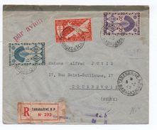 1945 - ENVELOPPE RECOMMANDE Avec TIMBRES FRANCE LIBRE De TANANARIVE (MADAGASCAR) -> TAXE - Madagascar (1889-1960)