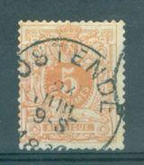 """BELGIE - OBP Nr 28  - Liggende Leeuw - Cachet  """"OSTENDE""""  (ref. ST 517) - 1869-1888 Lion Couché"""