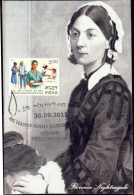 HEALTH-NURSING-FLORENCE NIGHTINGALE-PRIVATE MAXIMUM CARD-INDIA-2011-IC-203 - Santé