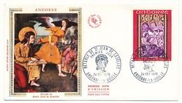 ANDORRE - 3 Enveloppes FDC =>  Retable De St Jean De Caselles - 1970 - FDC