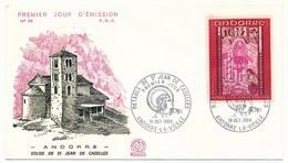 ANDORRE - 3 Enveloppes FDC =>  Retable De St Jean De Caselles - 1969 - FDC