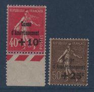 N°266 + 267 - Caisse D'Amortissement - Neufs Sans Charniere - Cote 220€ - France