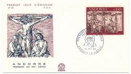 ANDORRE - 3 Enveloppes FDC =>  Fresques Du XVIeme Siècle - 1968 - FDC