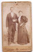 Foto  Photo - Hard Karton - Koppel - Couple - Photographie Vandorpe - St Maurice Lille - Ancianas (antes De 1900)