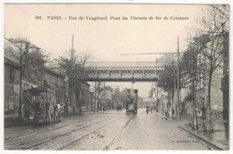 75 - PARIS 15 - Rue De Vaugirard (Rue Firmin Gillot à Droite) - Pont Du Chemin De Fer De Ceinture - Marmuse 502 - Distrito: 15
