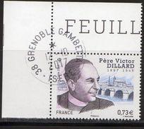 France 2017.Père Victor Dillard.Cachet Rond Gomme D'origine. - France
