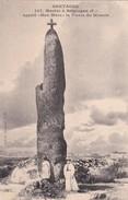 """Bretagne / Menhir à Brignogan  ( F ) GEKERSENDE MENHIR  """"Men Marz"""" ( La Pierre Du Miracle )   ( Nieuw ) - Dolmen & Menhirs"""