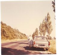 Photo Amateur Automobile, Peugeot 404 Au Bord De La Route - Automobiles