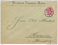 25921. Carta Comercial MAINZ (Alemania Imperio) 1902 A Rheinpfalz - Cartas