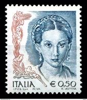 ITALIA Repubblica 2003 Donna Nell'arte Euro 0,50 € MNH ** Integro Scritta I.P.Z.S. S.p.A. - ROMA - 6. 1946-.. Republic