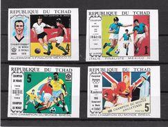 Tchad Chad Série Complète Non Dentelé/imperf/B Football CM 70 ** - 1970 – Mexico