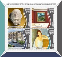 SIERRA LEONE 2017 - Metropolitan Museum. Official Issue. - Museums