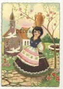 Joyeuses PâquesPetite Fille Porteuse D'eau, Puits, église.Edizioni SAEMEC S/316 - Pâques