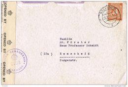 25923. Carta SOLINGEN (alemania) 1946. Ocupacion Anglo Americana. CENSOR - Zona Anglo-Américan