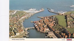 WHITBY HARBOUR AND PIERS. AERIAL VIEW - Whitby