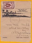 1945 -  Bande De Journal Illustrée D ' Eseka, Cameroun Vers Philadelphie, USA  - Affrt 80 C Imprimé France Libre - Cameroun (1915-1959)