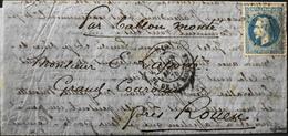 FR - 1870 Ballon Monté - Y & T  29B - 20c. Empire Français Lauré - Signé J.F. Brun ( En Bas à Droite ) - Bon Etat - Marcophilie (Lettres)