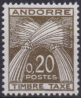 Andorre   .    Yvert   .     Taxe   44      .        **      .         Neuf **   .     /   .   MNH - Portomarken