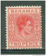 Bahamas: 1938/52   KGVI    SG152b    2d   Scarlet  MNH - Bahamas (...-1973)