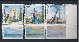 IL.- Israël. 1991. The First Power Station Tel Aviv**. Yarden Power Station Naharayim**. Rutenberg Power** Mi.1192-93-94 - Israel