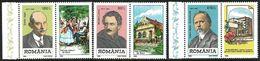 Romania 1998 Scott 4233-35 MNH With Label German Personalities - Ungebraucht