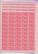 BI-509: FRANCE: Lot De5 Feuilles De 0.10f (dont Une Avec Défauts Au Verso) - Fiscale Zegels