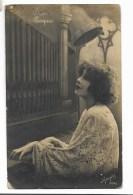 BUONA PASQUA - DONNA AL PIANO 1927 VIAGGIATA FP - Easter