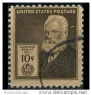 U.S.A. 1940 - Scott# 893 A.G.Bell-Phone 10c Used (XK870) - United States